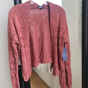 Knit Sweater Cardigan | Rose